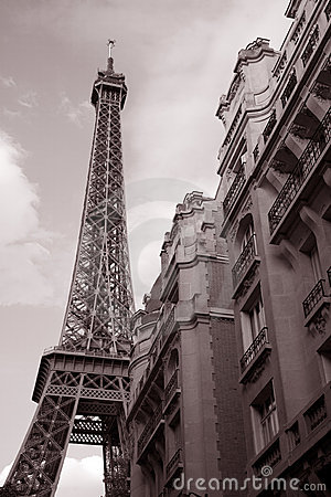 Eiffel Tower and Building, Paris