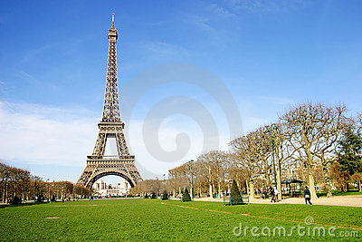Eiffel Tower in the City of Paris, France Editorial Stock Photo