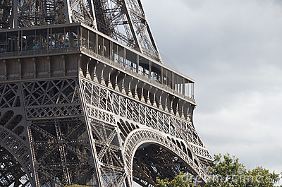 Eiffel Tower close-up