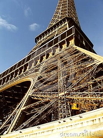 Eiffel Tower closeup at daylight - Paris