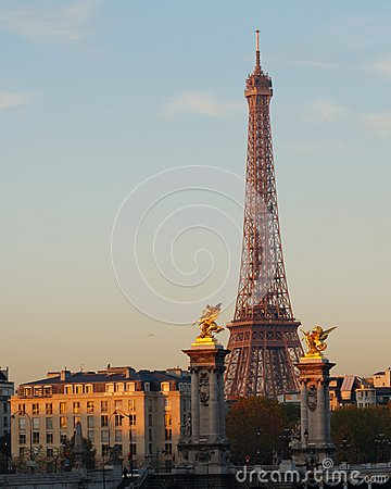 Eiffel Tower at Dawn, Paris, France