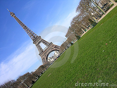 Eiffel Tower diagonal, Paris, France
