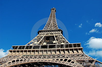 Eiffel Tower with EU symbol