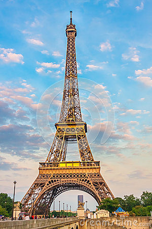 Eiffel Tower at the evening