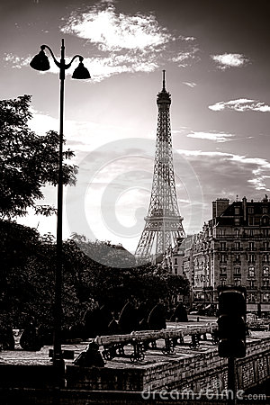 The Eiffel Tower Famous Paris Landmark in France