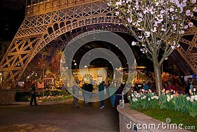 Eiffel Tower Flower Show Editorial Stock Photo