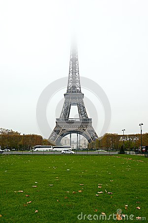 Eiffel Tower Fog