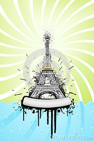 Eiffel tower ink explosion