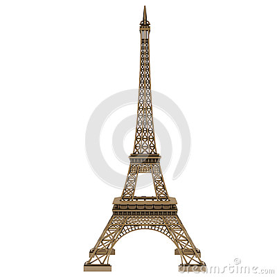 Eiffel tower isolated