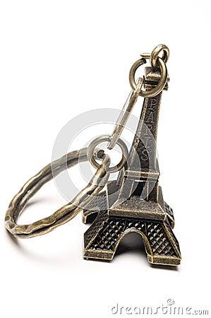 Taxi New York >> Eiffel Tower Key Chain Souvenir Stock Photo - Image: 10097520