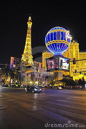Eiffel Tower Las Vegas Editorial Photo
