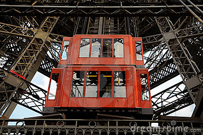 Eiffel Tower  - lift technology Editorial Stock Photo