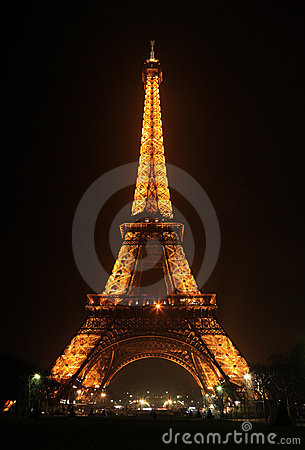 Eiffel Tower by night Editorial Photography