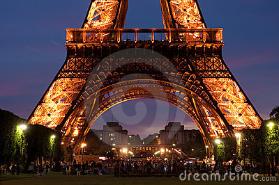 Eiffel Tower at night Editorial Photography