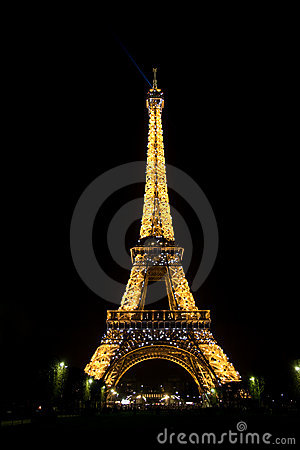 Nighttime Eiffel Tower Pictures on Stock Photo  Eiffel Tower By Night  Image  7879620