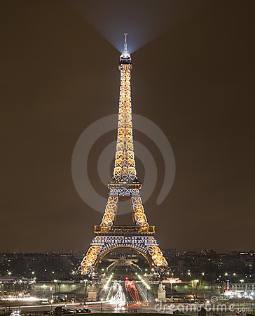 Eiffel Tower by Night, Paris, France Editorial Image