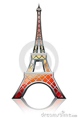 Eiffel tower orange