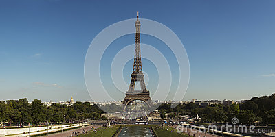 Eiffel Tower Panorama Editorial Stock Image