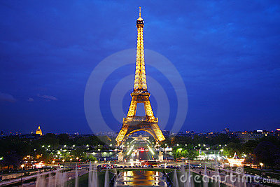 The Eiffel Tower in Paris Editorial Photo