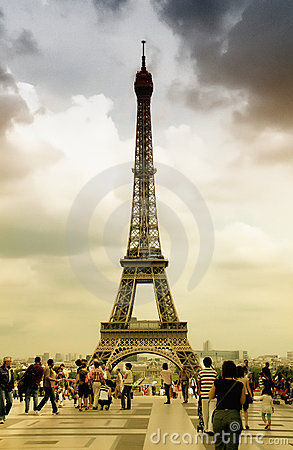Eiffel Tower, Paris Editorial Stock Photo