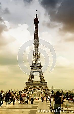 Eiffel Tower, Paris Editorial Stock Photo
