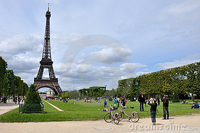Eiffel Tower in Paris Editorial Photography