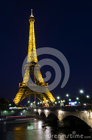 Eiffel tower, Paris Editorial Stock Image