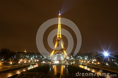 The Eiffel Tower in Paris, France Editorial Stock Photo