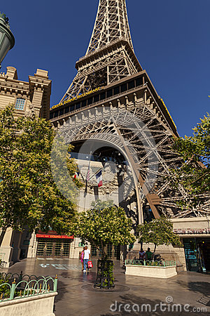 The Eiffel Tower at Paris Hotel in Las Vegas, NV on May 20, 2013 Editorial Stock Photo