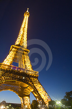 Paris Eiffel Tower Pictures  Information on Stock Image  Eiffel Tower In Paris By Night  Image  17863801