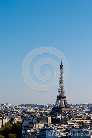Eiffel Tower, Paris, panoramic view