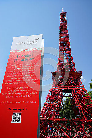 Eiffel Tower on Paris Plages Editorial Image