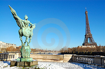 Eiffel tower, paris, winter