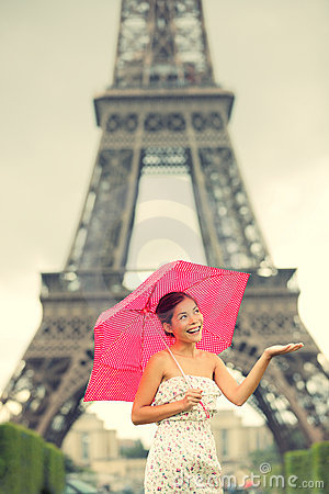 Eiffel Tower Paris woman