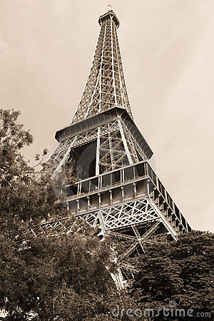 Free Eiffel Tower Picture Sepia on Stock Photography  Eiffel Tower Sepia  Image  1348652