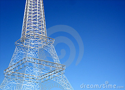 Eiffel tower sketch against clear sky