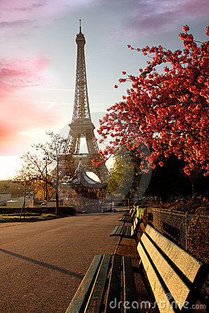 Eiffel Tower in spring, Paris, France
