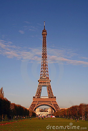 Picture Eiffel Tower Sunset on Royalty Free Stock Photos  Eiffel Tower At Sunset  Image  2440348