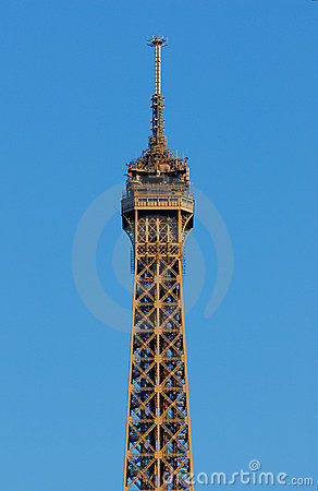 Eiffel tower top floor royalty free stock photos image for Floors of the eiffel tower