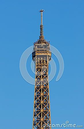 Eiffel Tower Top Floor Royalty Free Stock Photos Image 6863388
