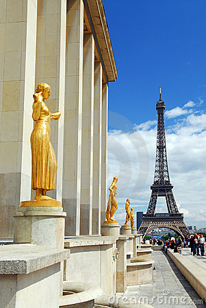 Eiffel tower from Trocadero Editorial Stock Image
