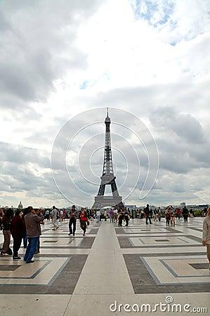Eiffeltorn Redaktionell Arkivbild