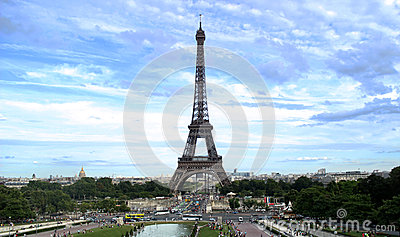 Eiffeltower, Le eiffel tower with blue sky.