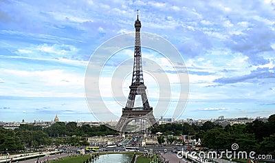 Eiffeltower, Le eiffel tower with blue sky.