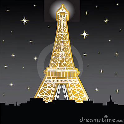 Free Eiffle Tower At Night Royalty Free Stock Photography - 9920067