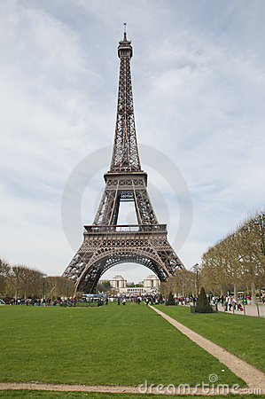 The Eiffle Tower landmark in Paris