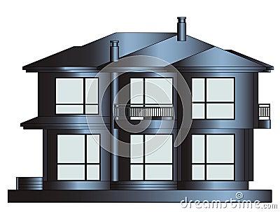 Eigentijds huis stock illustratie afbeelding 39324648 - Afbeelding eigentijdse woonkamer ...