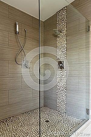 Eigentijdse douche met dubbele hoofden stock fotografie afbeelding 23406122 - Eigentijdse douche ...