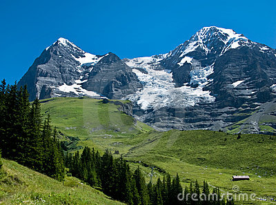 Eiger and Monch landscape