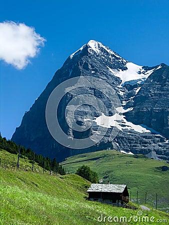 Eiger mountain in Switzerland